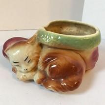 Vintage Ceramic Kitten Cat Shoe Planter Vase - $24.18