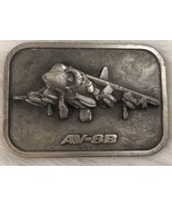 Military Aviation AV-8B Harrier Jet Belt Buckle Pewter Collectable USMC - $15.88