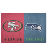 House Divided Football Man Cave Welcome Doormat Entryway Rug - $29.29