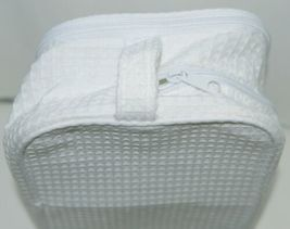 Terry Town CBW001 Waffle Weave Cosmetic Bag Color White image 5