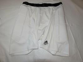 Herren Adidas Techfit Rutschen Kurz 9744H0136 Shorts Weiß XXXL 3XL Baseball Nwt - $21.30