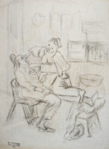 "Henry d'Estienne (1872-1949) Pencil Drawing on Paper ""Nude"" - $1,700.00"
