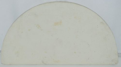 Unbranded Baking Stone Ceramic Color White Shape Half Moon
