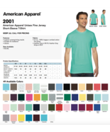 6 Blank American Apparel 2001 Fine Jersey T-Shirt Lot ok to mix XS-XL & ... - $58.00