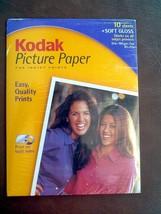 "KODAK Picture Paper 10 SHEETS Soft Gloss 8 1/2"" x 11"" New, Sealed    - $8.27"