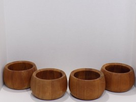 Vintage Set of 4 DANSK International IHQ Wood Salad Bowls Malaysia - $39.60