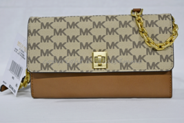 NWT! Michael Kors Natalie XL Wallet on Chain in Natural Brown - $159.00