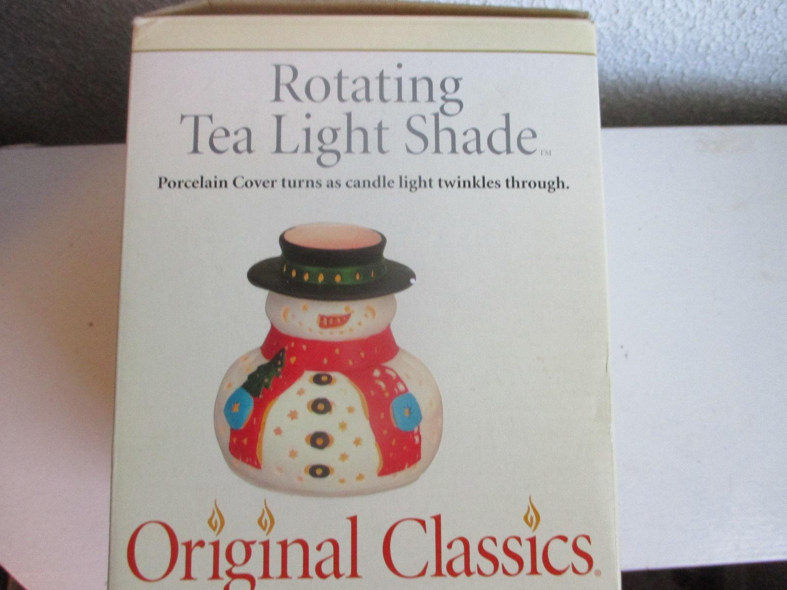Mr Christmas Original Classics Snowman Rotating Tea Light Shade - $15.99