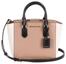 NWT MICHAEL KORS LEATHER CAROLYN SMALL TOTE CROSSBODY BAG IN DARK KHAKI/... - $99.00