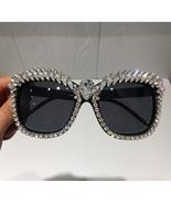 Fashion Sunglasses Women Designer Luxury Crystal Rhinestone Oversized Sq... - $24.99