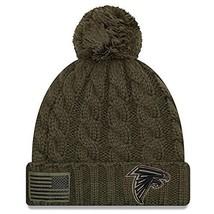 Era Women 2018 Salute to Service Sideline Cuffed Knit Hat – Olive Atla... - $26.30