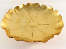 Vintage 1930's Art Deco McClelland Barclay Bronze Lotus Flower Serving P... - $35.99