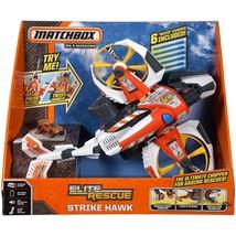 "NIB $89 Matchbox Elite Rescue Strike Hawk Chopper, 18"" long, Sound Effects  - $13.09"