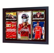 NEW Sebastian Vettel Ferrari Formula 1 signed photo print vettel Framed - $21.31