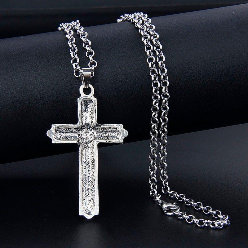 Ne viking necklace athelstan s cross ragnar indian jewelry men women pendant w chain the vikings