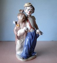 Lladro PALS FOREVER Society Clown Girl & Puppies Figurine #07686 Boxed New - $375.00