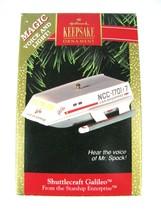 1992 Star Trek Shuttlecraft Galileo Magic Voice Hallmark Christmas Ornament - $14.80