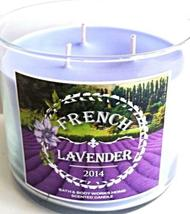 Bath & Body Works French Lavender 3 Wick Candle 14.5 Oz Provence 2014 NEW image 3