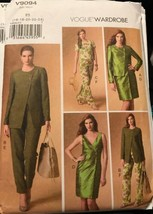 Vogue V9094 Wardrobe Pattern Jacket, Top, Dress, and Pants Uncut Sizes 1... - $22.51