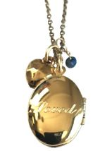 Alisa Michelle Gold Plated Loved Oval Locket with Blue Sodalite Gemstone Charms image 3
