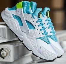 NEW Nike AIR HUARACHE RUN wmn USsz's: 7.5, 8.5, 9.5 casual WHITE/BLUE 63... - $89.99