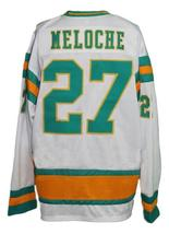 Custom Name # California Seals Retro Hockey Jersey New White Meloche 27 Any Size image 5