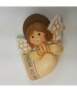 Hallmark Holiday Christmas Pin Praying Angel Wings Halo Tan - $9.65