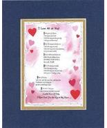 Touching and Heartfelt Poem for Love & Marriage - [I Love All of You! ] ... - $16.33