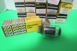 Vintage Sylvania Electron Tubes Lot Of 18 Various Models Original Boxes Untested - $38.61