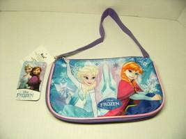 Disney Frozen Handbag Anna Elsa Zipper Hand Travel Make Up Purse Accesso... - $15.19