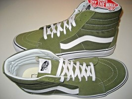 Vans Mens Sk8-Hi Winter Moss Green White Canvas Suede Skate Shoes Size 1... - $64.34