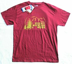 Marmot Mountain Works Organic Cotton Tee T-Shirt Mens XL Burgundy New With Tags - $17.81