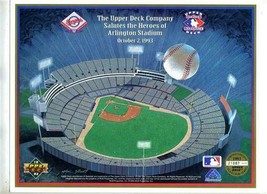2 Upper Deck Salutes the Heroes of Arlington Stadium 1993 Limited Edition Texas  - $11.88