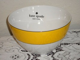 Set 4 LENOX Kate Spade New York Rutherford Circle Yellow All Purpose Bow... - $48.50