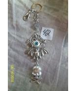 # purse jewelry Halloween Evil Eye keychain backpack filigree dangle cha... - $5.56