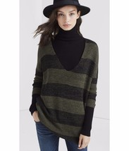 ExpressMarl Stripe London Tunic Sweater size XSmall Green - $32.66
