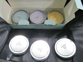 Partylite Candle Tin Gift Set Of 3. Revitalize, Unwind & Relax. Well Being. - $15.83