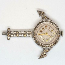 Vintage Gotham Mechanical Wind Ladies Pendant Watch Jeweled Anchor - $54.44