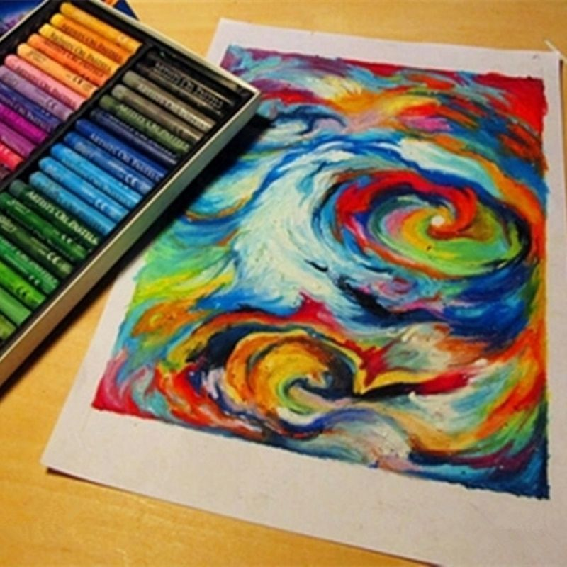 Painting Crayons For Artists And Children Cool Pastel Oil Art Supplies 50 Colors