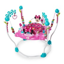 Baby Jumper Activity Center Bouncer Infant Toys Minnie Mouse Pink Lights... - $138.02