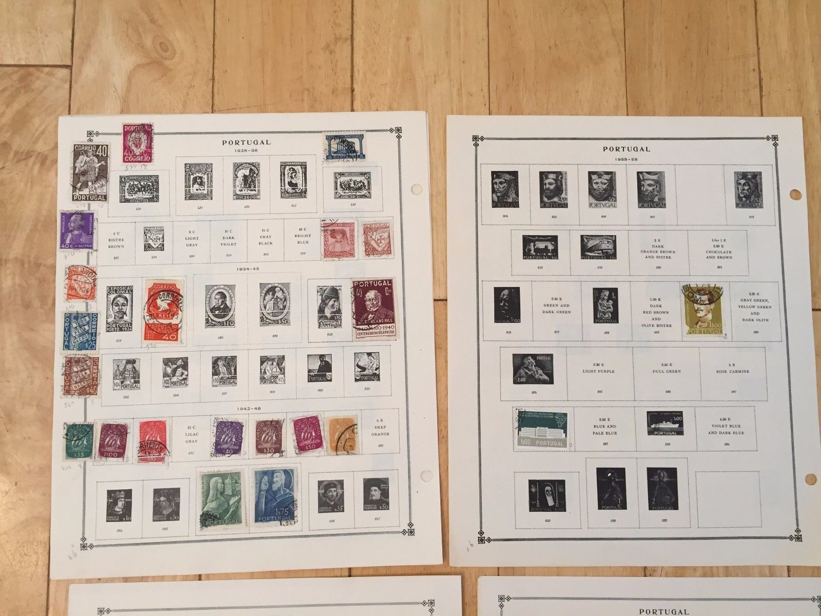 G45 Portugal 1862-1975 Poland 1925-1958 Hinged Stamps on Scott and Plain Sheets