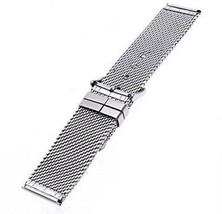 TFSeven 24mm Unisex Thick Mesh Steel Watch Band Strap Bracelet Pin Buckle DIY - $25.14
