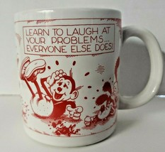 Designers Collection American Greetings Stoneware Coffee Cup Learn To Laugh! - $16.99