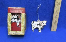 Cow Ornaments Gloria Duchin Metal Enamel Holly Wreath Dangling Bell Lot ... - $14.84