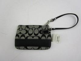 Coach F45608 Black/Gray Signature Wristlet NWT - $45.00