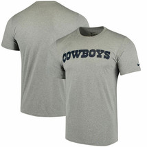 Dallas Cowboys Nike Legend Wordmark Essential  Dri Fit Gray Tee Adult XXL - $26.72