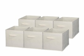 Foldable Cloth Storage Cube Basket Bins Organizer Containers Drawers 6 P... - $34.75