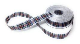 Scottish Tartan White Green Red Blue Reversible Ribbon 25mm 4 Sizes Aval... - $5.21+