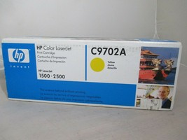HP C9702A Yellow  Genuine Color Toner Cartridge NEW for LaserJet 1500 2500 - $17.99