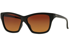 Oakley Hold On OO9298-01 Matte Black Square Frame Polarized Brown Gradient Lens - $54.44